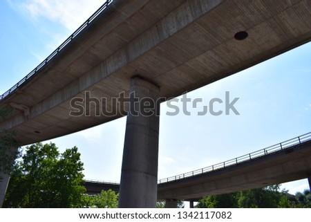 old freeway bridge #1342117082