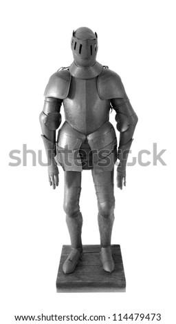 old french soldier armor isolated on white - stock photo