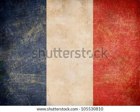Stock Photo old French tricolour flag