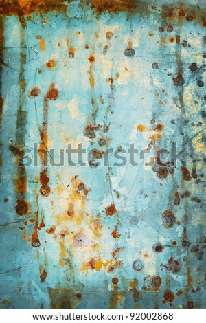 old galvanized light blue as the background