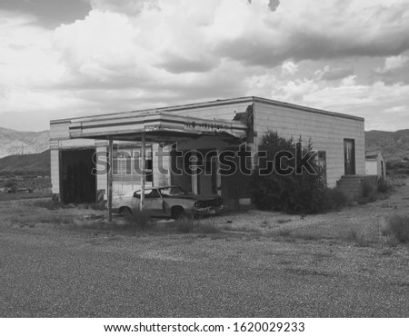 old garage with old car