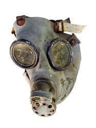 old gas mask - isolated on white background
