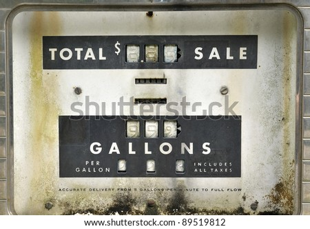 Old Gas Pump, Detail