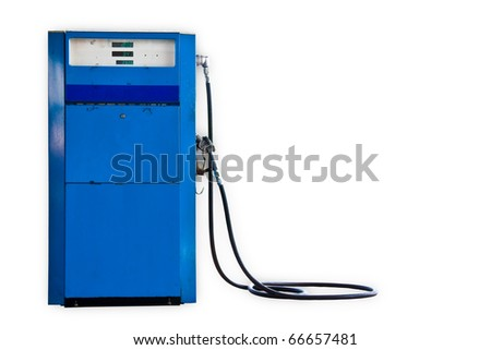 Old gasoline pump - stock photo