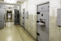 Old German jail, detail of confinement and crime, justice