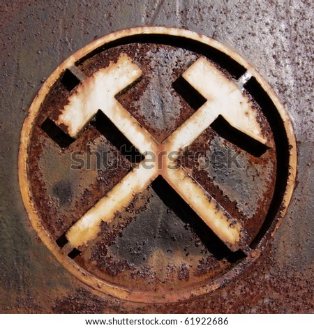 Old German Mining Symbol