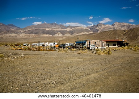 old Ghost town and former Gold Town of Ballarat, near the Panamid mountains