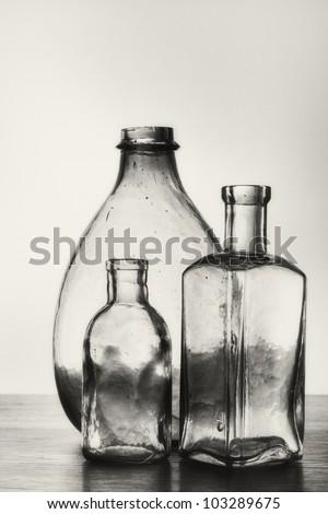 Old glass bottles