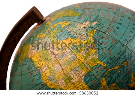 old globe isolated on a pure...