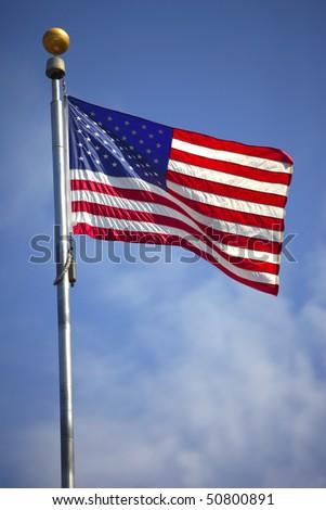 Old Glory, American flag. - stock photo