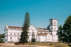 Old Goa, India. Se Catedral De Santa Catarina, Known As Se Cathedral. Latin Rite Roman Catholic Archdiocese Of Goa And Daman And Seat Of Patriarch Of East Indies.