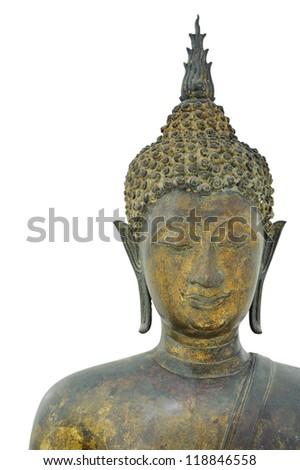 Old gold Buddha.