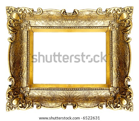 Old Gold Picture Frame