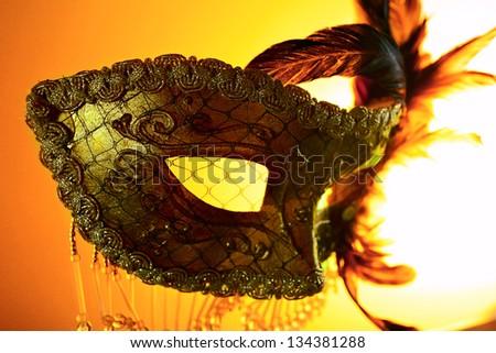old gold Venetian mask