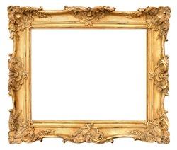 old golden frame. beautiful vintage background