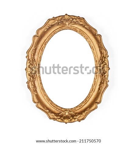old golden picture frame