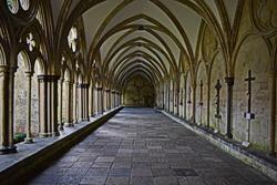 Old gothic corridor