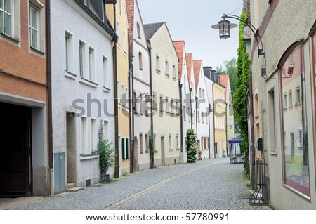 Old gothic houses in bavarian town, Weiden, Germany
