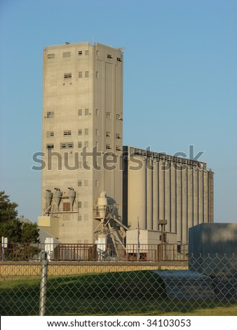 old grain elevator and silos