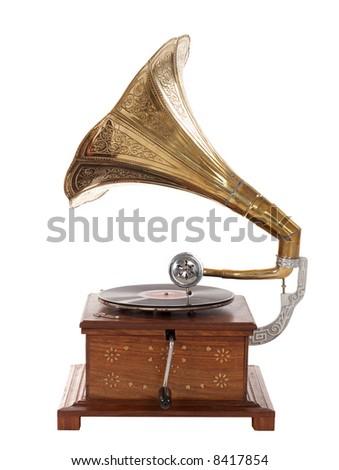 old gramophone #8417854
