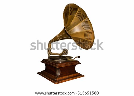 Old gramophone - cut out #513651580