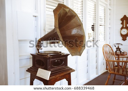 old gramophone for decorating...