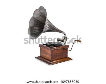 old gramophone white background #1097883080