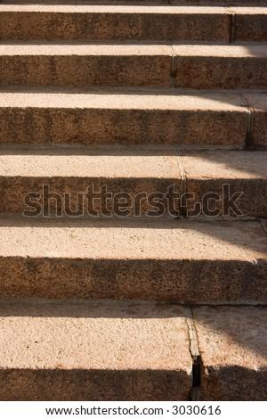 Old granite ladder stripe light and shadow
