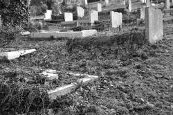 old grave stones in a cemetry