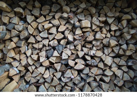 old gray firewood background texture #1178870428