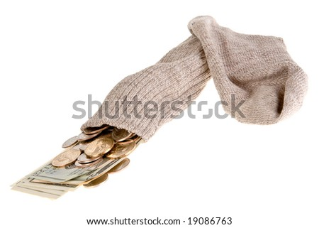 Old gray sock as the safest place to put your money