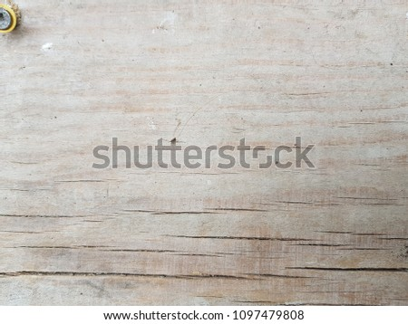 old gray wooden board in cracks. Old rough cracked wood #1097479808