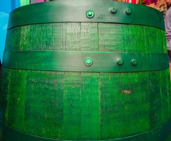old green barrel painted texture