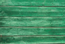 Old green color wood wall background