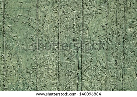 Old green peeling paint texture