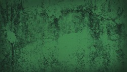 old green weathered cement wall background with dark corners. rustic grunge and dirty wall for abandoned concept background. green faded stucco wall.