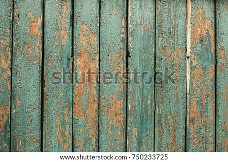 old green wooden fence background texture close up