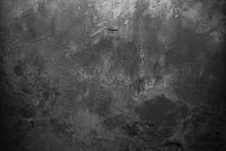 Old grey background. Black background. Grunge wall