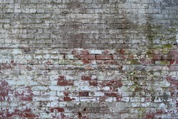 Old, Grimey Brick Texture at Alcatraz Island