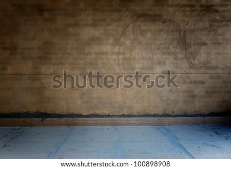 old grunge bare concrete room