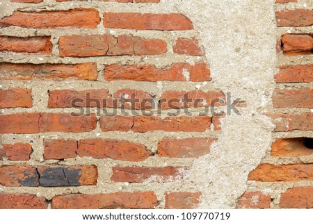 old grunge brick wall - stock photo