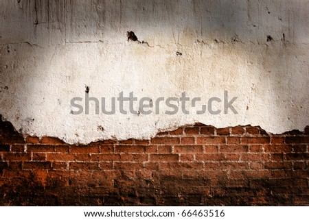 old grunge brick wall with space for text