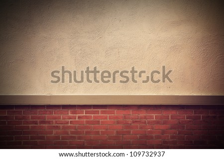 old grunge brick wall with space for text, Vintage style