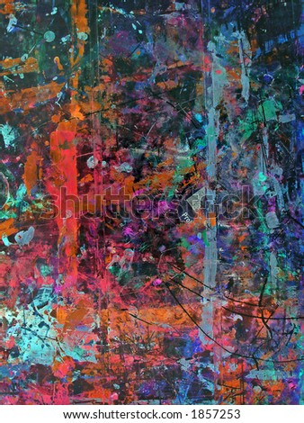 Old grunge colorful wall