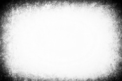 Old Grunge Concrete Wall Border Background with White Space for Text.