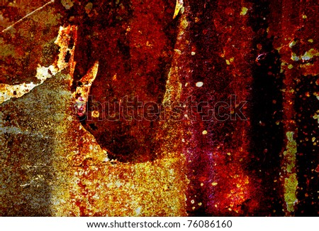 old grunge corrosion metal sheet