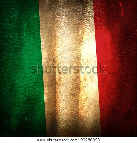 Old grunge flag of Italy