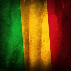 Old grunge flag of Mali
