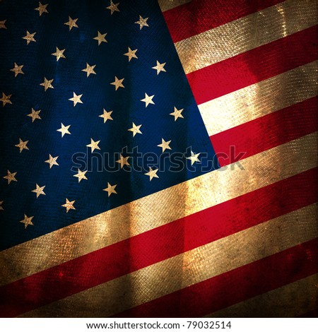 Old grunge flag of United States