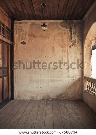old grunge interior